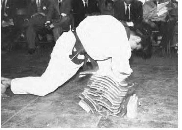Taekwondo 1950 breaking wood