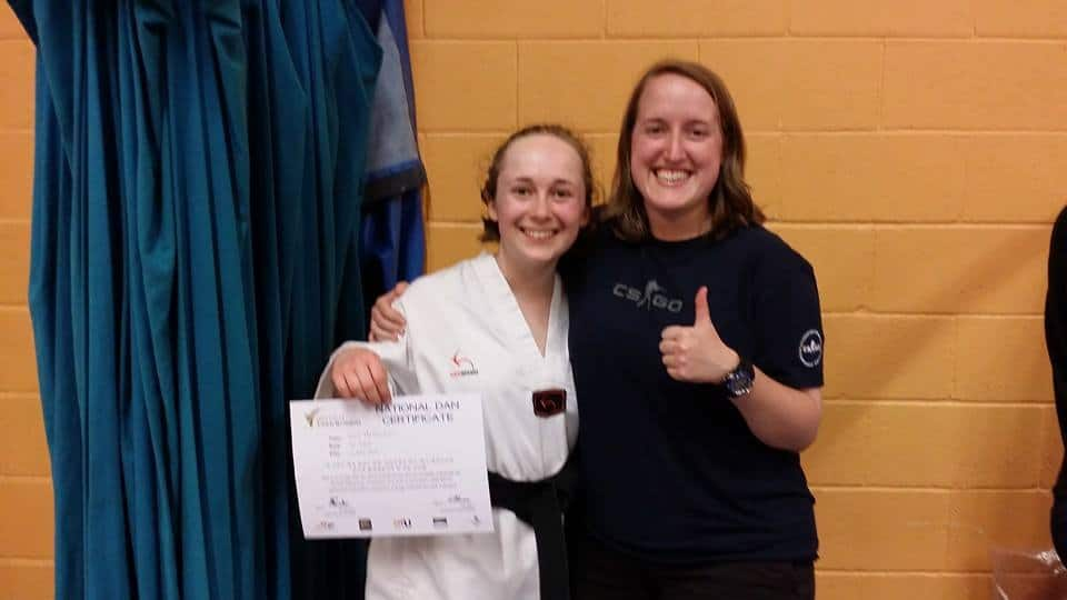 Black Belt Grading May 2014 Lucy & Joanna