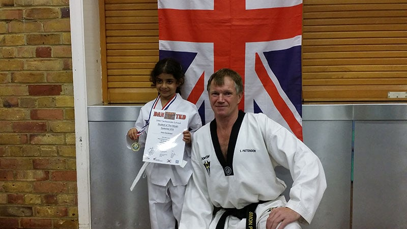Irene with Chief Instructor Simon Pattenden