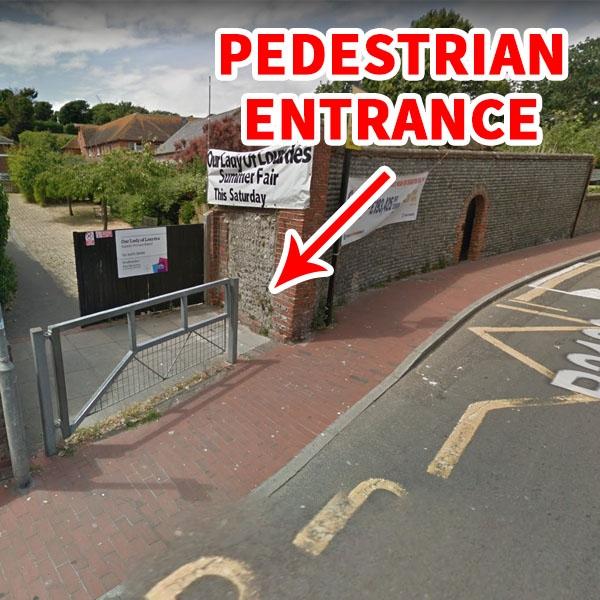 Pedestrian Entrance for DAN Taekwondo School