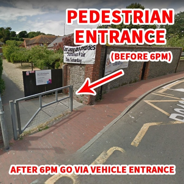 Pedestrian Entrance for DAN Taekwondo School