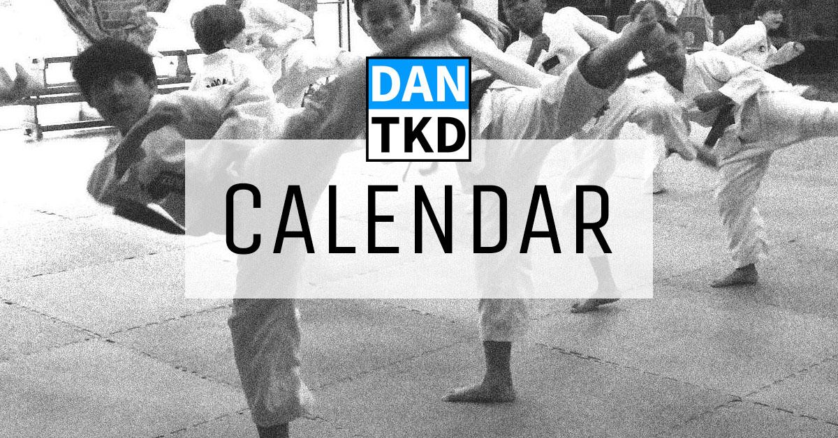 DAN Taekwondo School Calendar Rottingdean Brighton