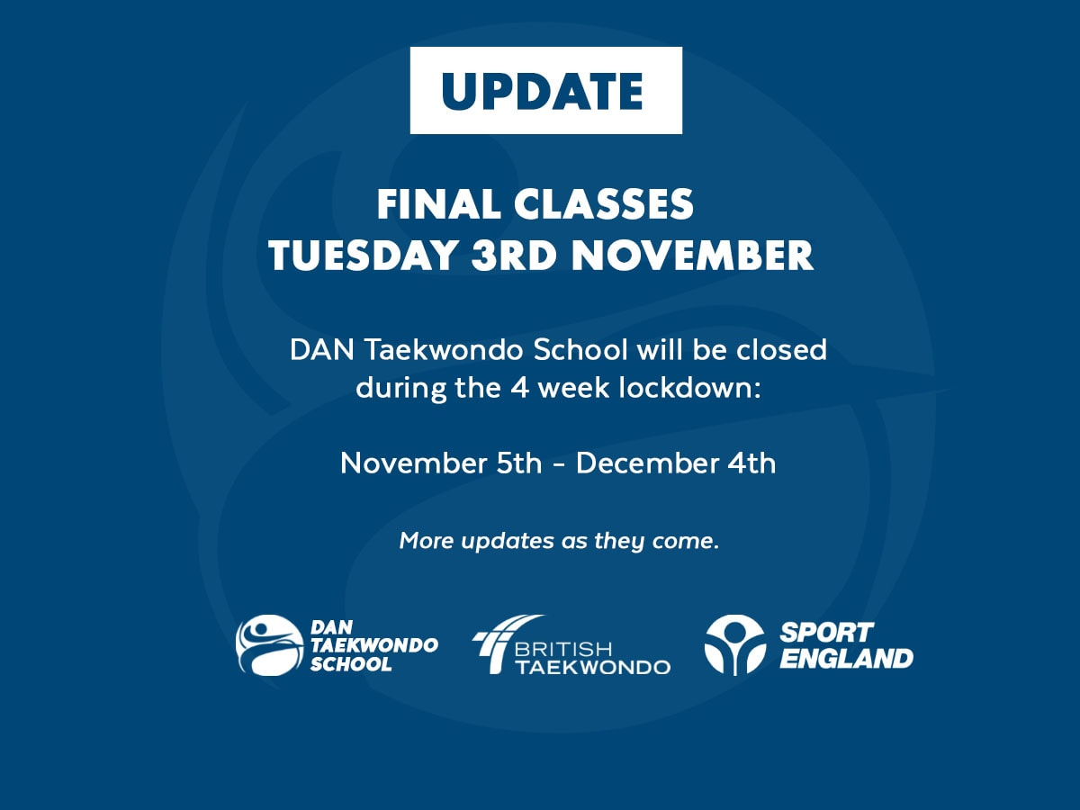 November update for DAN Taekwondo School Rottingdean Brighton