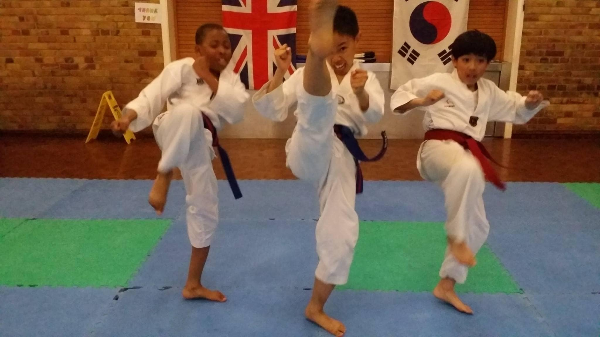 Kids having fun in Taekwondo in Rottingdean
